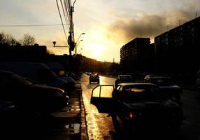 Morning traffic by mancaalberto