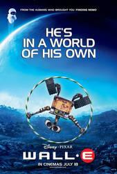 WALL-E Hula Hoop Movie Poster by cyborgzealot