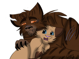 Tigerstar and Sasha by Sparrovvs