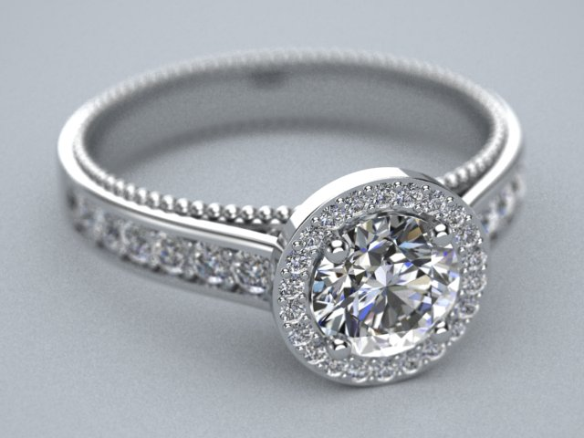 halo style milligran engagement ring by lupusk9 on DeviantArt