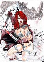 Red Sonja- by josileudo