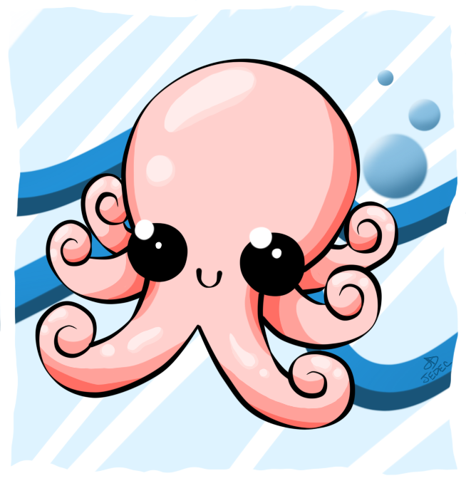 Cute Octopus by jedec on DeviantArt