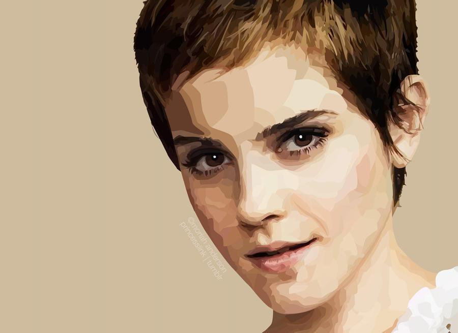 Emma Watson Vector Portrait by princessganon