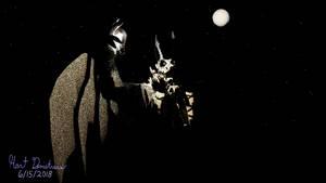 Night Sky Devistrare Bat Holding a Light Bulb by Devistrare