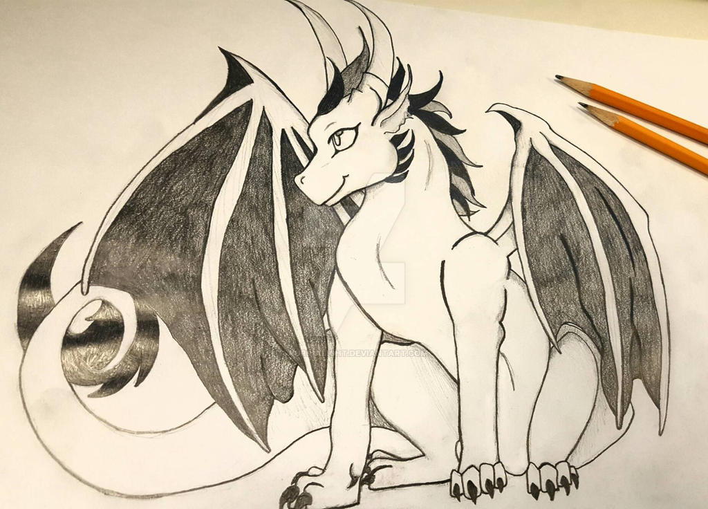 Baby Dragon Pencil Drawing by AurriaLight on DeviantArt