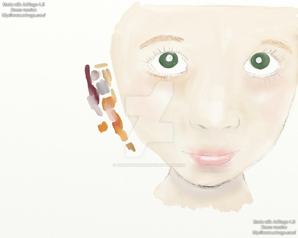 WIP: Girl in digital watercolour by quixoticduck