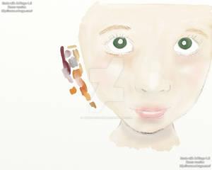 WIP: Girl in digital watercolour