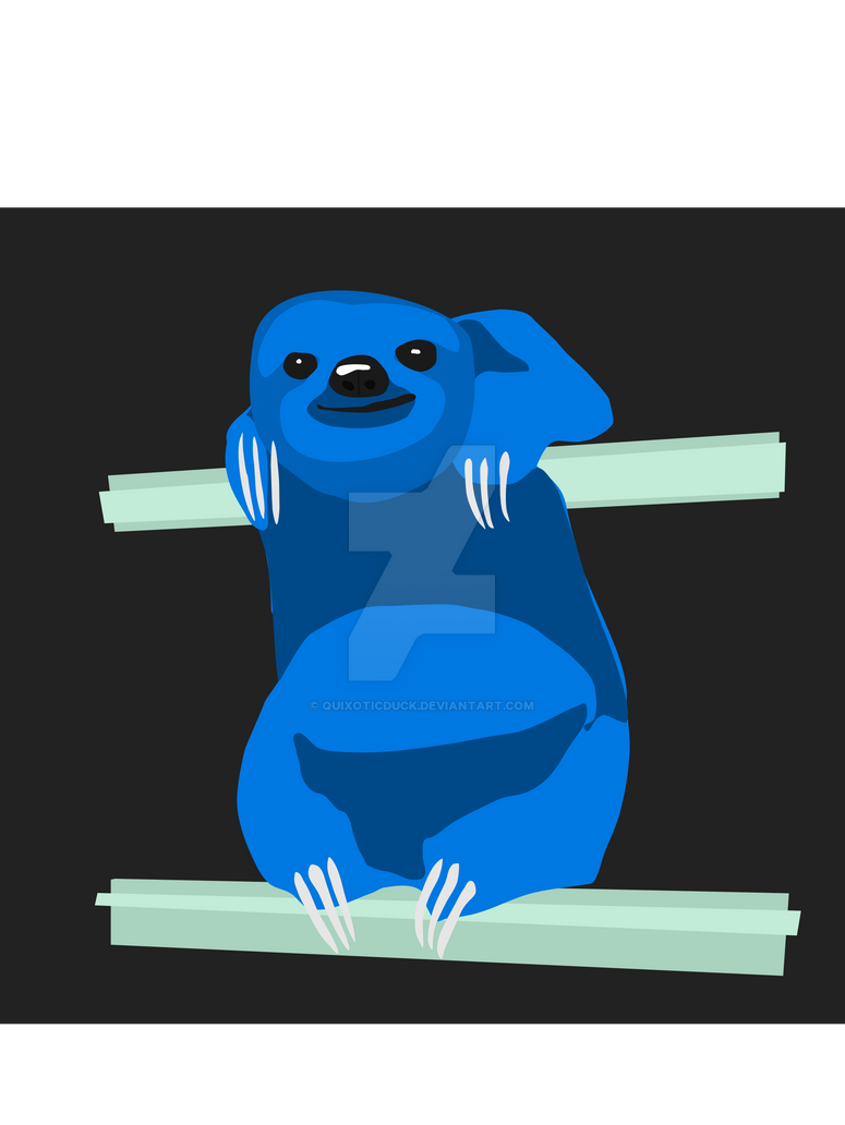 Vector Sloth by quixoticduck