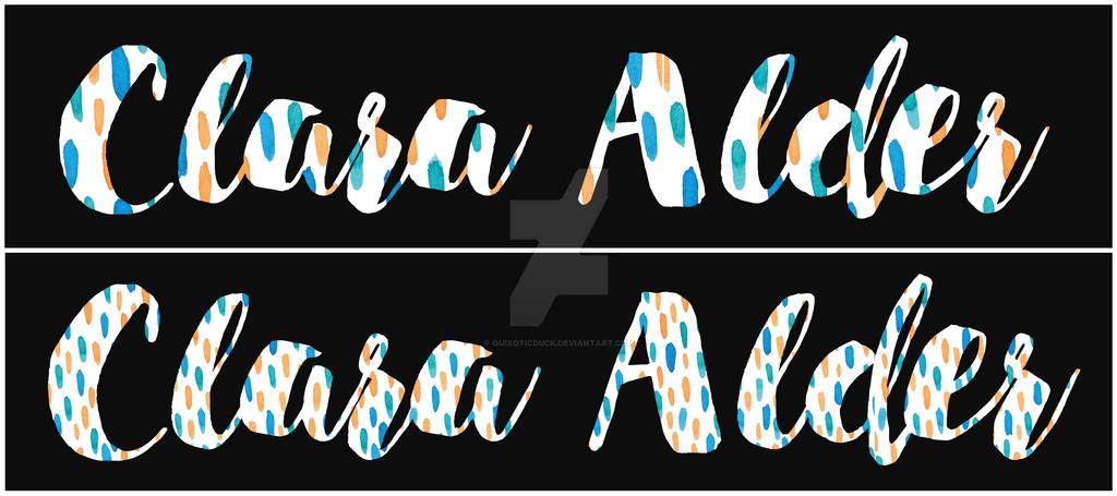 Script Font Signature - Pattern by quixoticduck