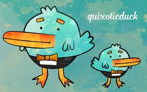 quixoticduck vector duck wallpaper