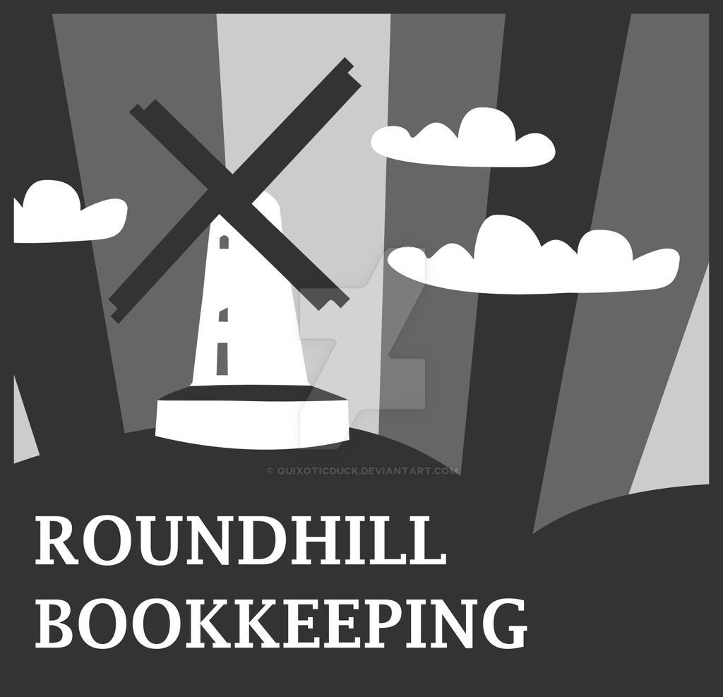 Windmill Logo Design - Greyscale by quixoticduck