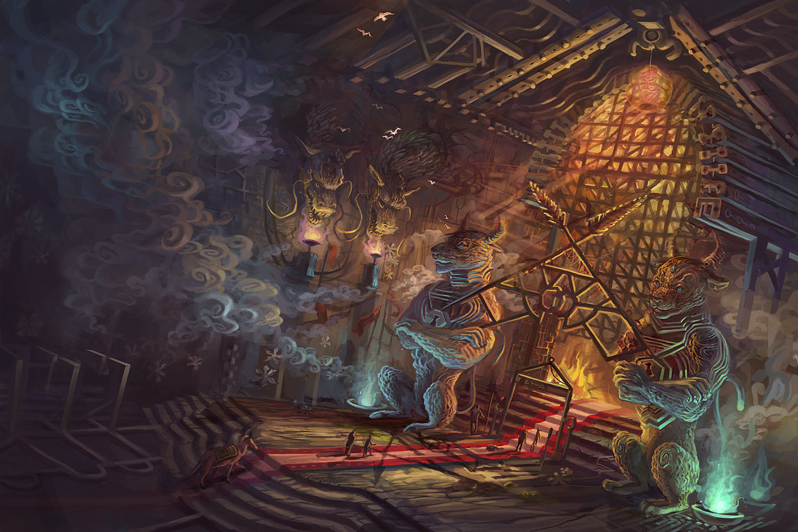 Beneath their Village by sarya