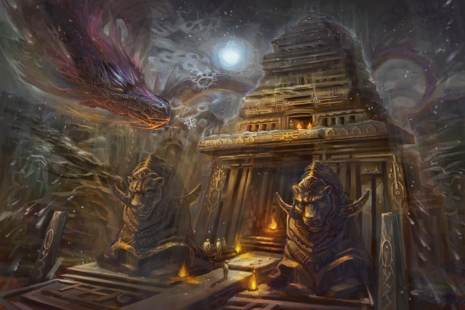 Cosmic Temple by sarya