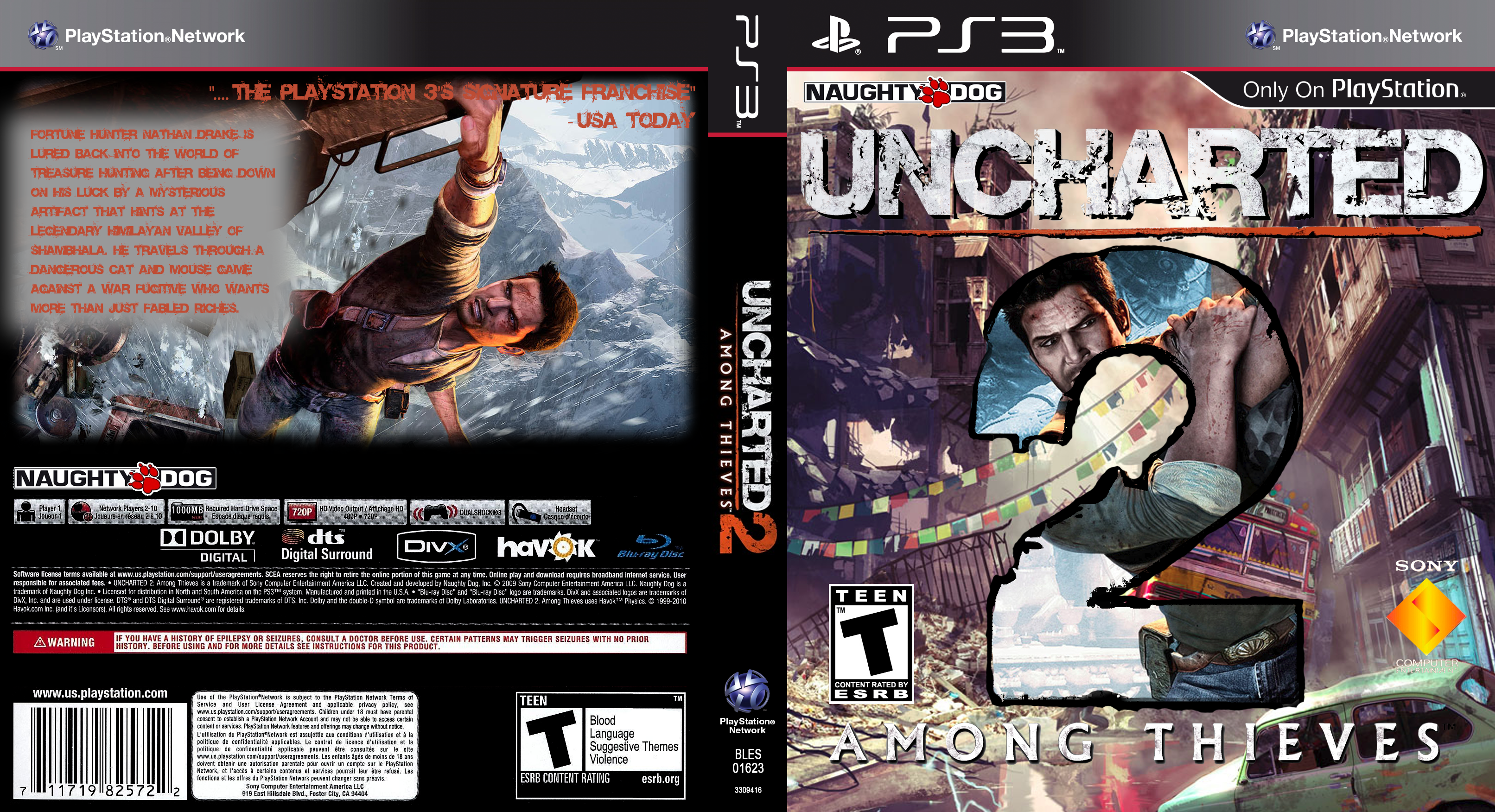 Uncharted 2 Among Thieves Alternate Cover By Timo352 On Deviantart