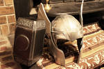 Thor helm and hammer Finished 5