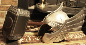 Thor helm and hammer Finished 7