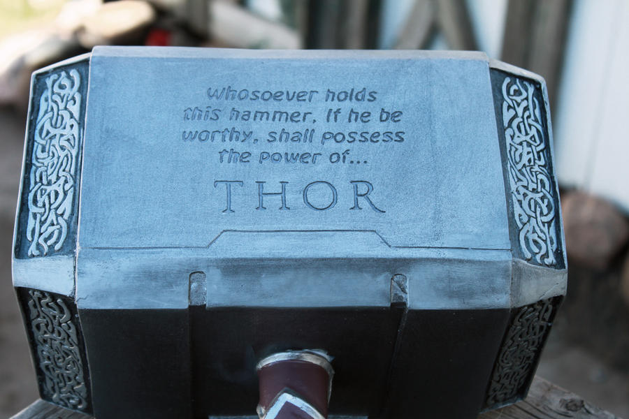 custom thor hammer by nmtcreations on deviantart