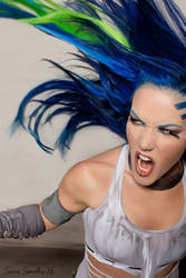 Alissa White-Gluz DIGITAL PAINTING by Swerdsi