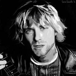 Kurt Cobain DIGITAL PAINTING III by Swerdsi
