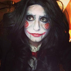 Billy The Puppet SAW Halloween Makeup by Swerdsi