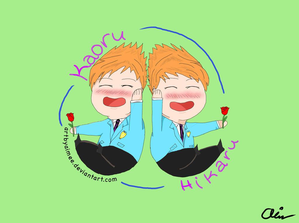 Hikaru and Kaoru chibis by artbyaimee on DeviantArt  Hikaru and Kaor...