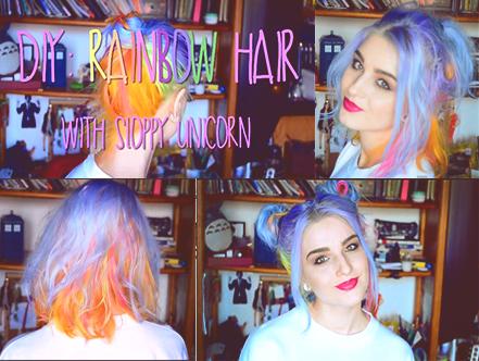 DIY: Rainbow hair / My Little Pony hair tutorial by Cuilwarthien666