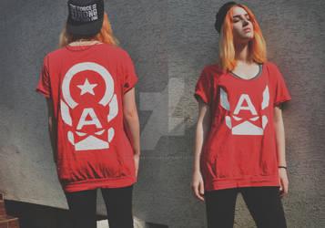 DIY Captain America t-shirt by Cuilwarthien666