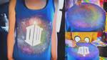 DIY: Doctor Who, Galaxy, Nebula tank top tutorial by Cuilwarthien666