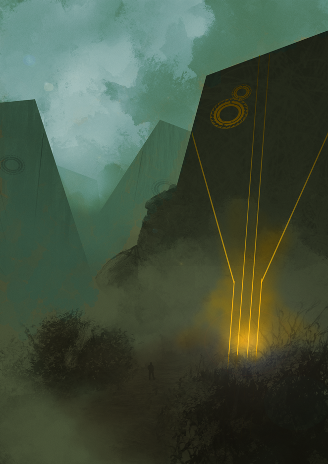 DSG 1633: Enviro • SHROUDED IN FOG, A FIELD OF HUGE BOULDERS SCULPTED BY ANCIENTS