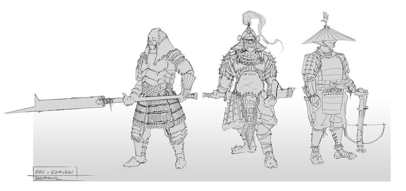 Orc-samurai by adamdawidowicz