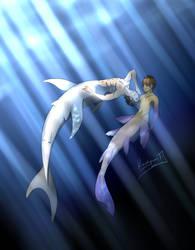 Sharks swim by Kaohgumi