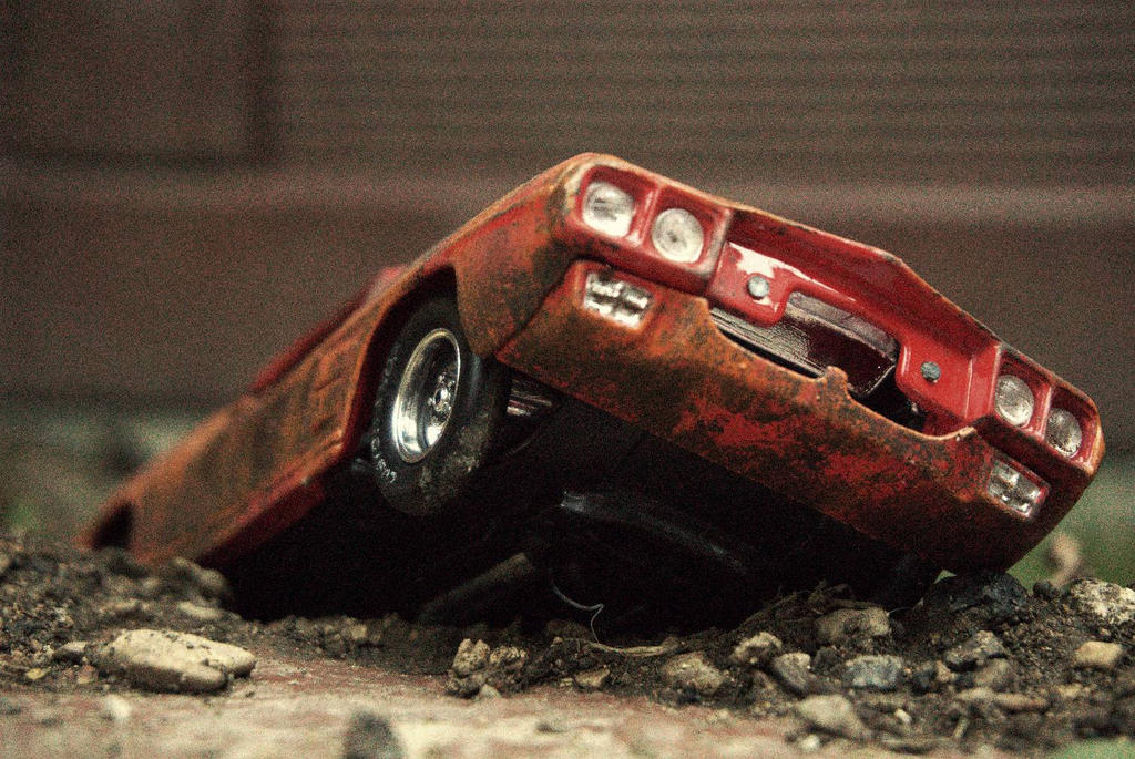 Wrecked toy car by Orcaplane79 on DeviantArt