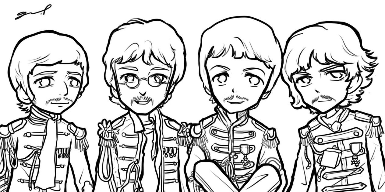 Sgt. Pepper's Band Sketch by GRLEE on DeviantArt Oasis Band Album Cover