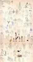 Massive Silent Hill Sketchdump by phantastus