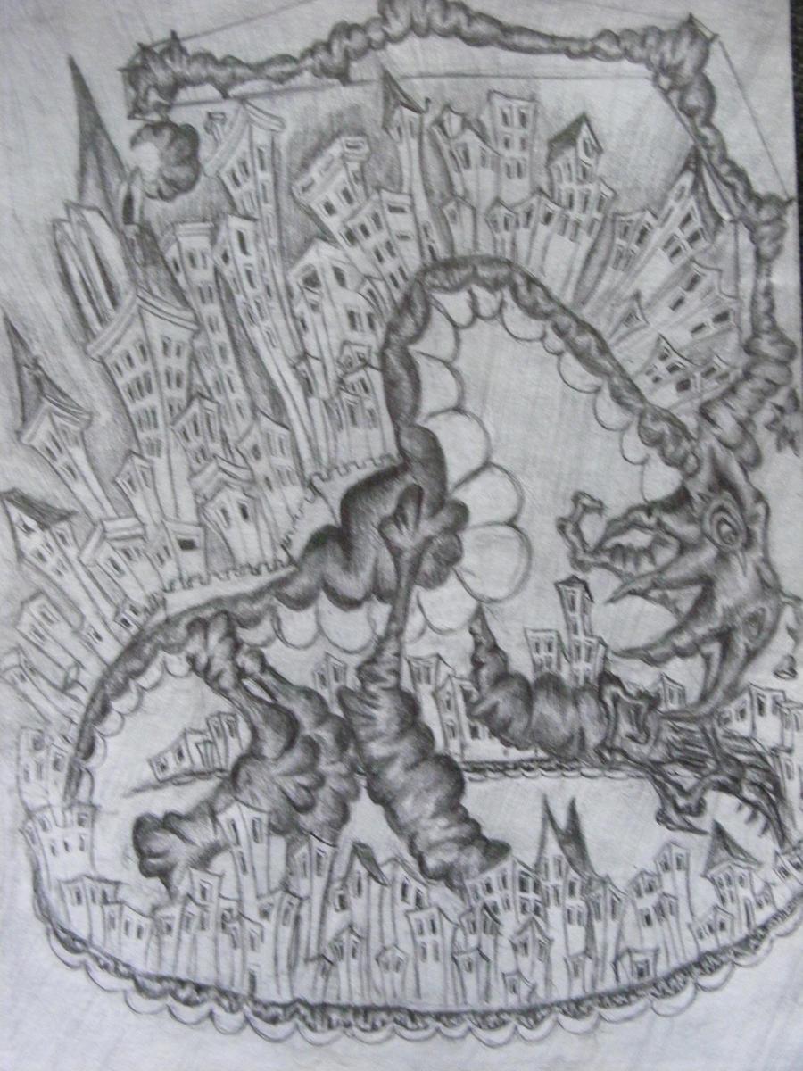 Ancient Dragon Citadel by sos00ko