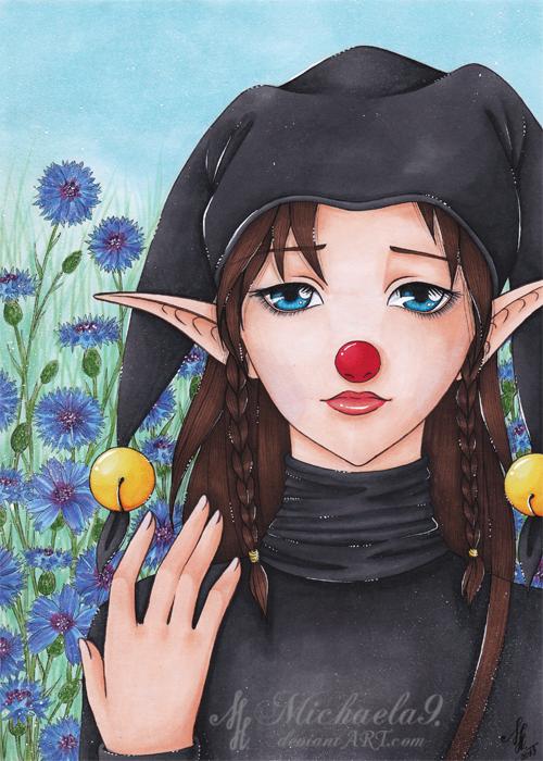 C: Sad clown by Michaela9