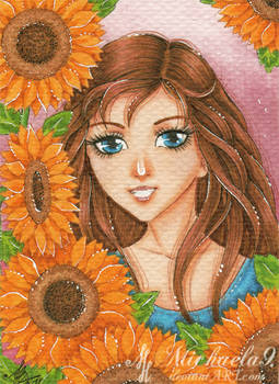 49. ACEO - Sunflowers