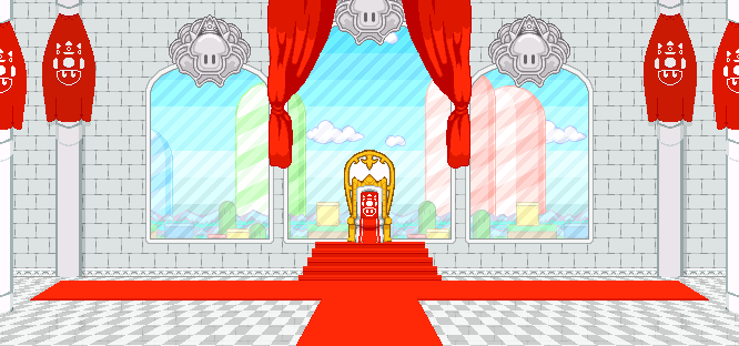 [Sprite Background] Peach Castle - Throne Room by CamAditia