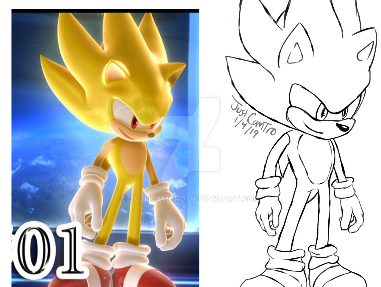 Super Sonic By Justcamtro On Deviantart