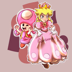 Toadette n Peachette by justcamtro