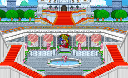 Peach Castle Garden by justcamtro