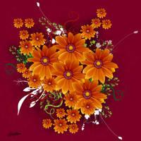 Flowers in Crimson by satishverma