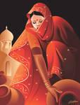 Village lady by satishverma