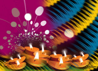 Diwali Card-I by satishverma