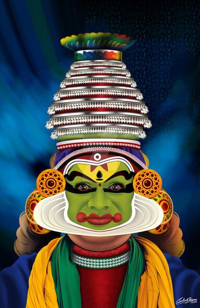 Kathakali Dancer by satishverma