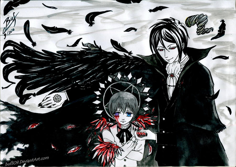 Devil and falling angel by buf309