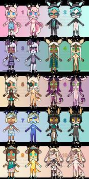 Kemonomimi/Furry Flatsale Adopts! [1/10 OPEN]