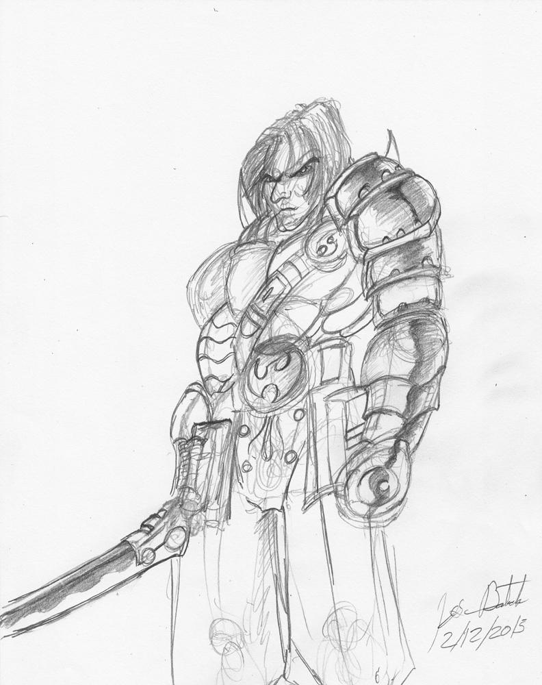 Dragon Warrior Miguel Gladiator by JoseMiguelBatistajr