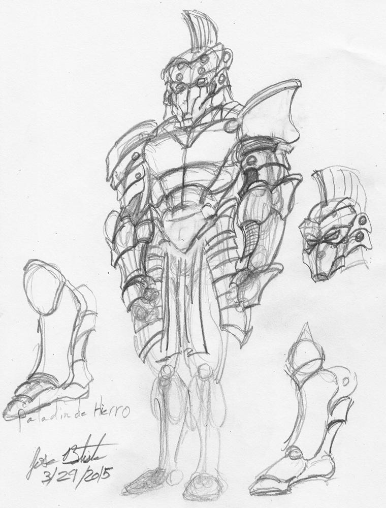 Paladin de Hierro sketch by JoseMiguelBatistajr