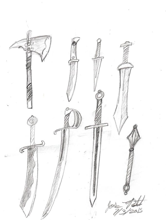 Fantasy Weapons by JoseMiguelBatistajr